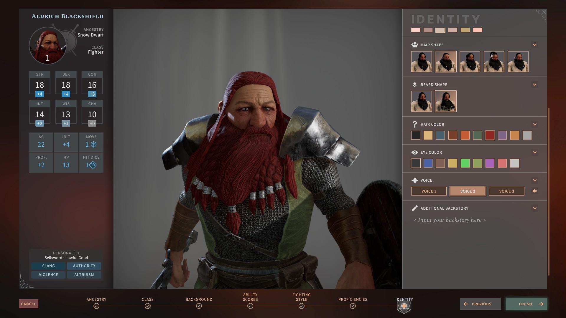 Tactical Adventures - Solasta - Creación de personaje