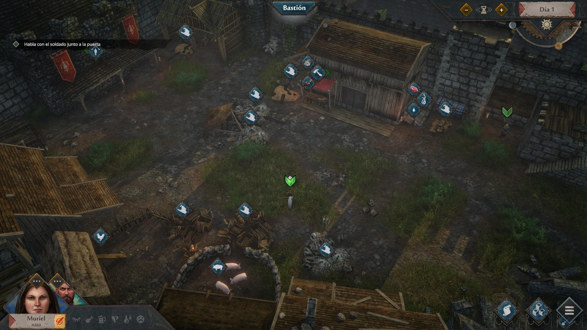 Siege Survival: Gloria Victis - Gestión