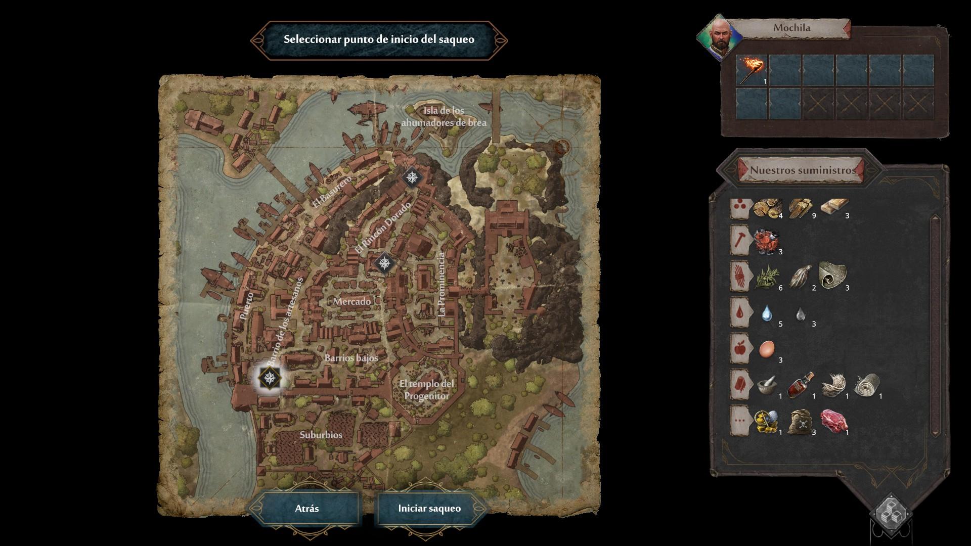 Siege Survival: Gloria Victis - Mapa de la Ciudad