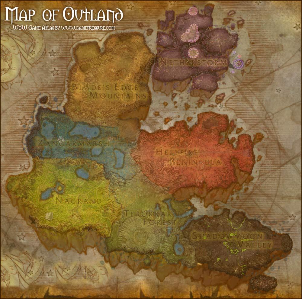 Mapa Outlands