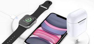 Cargador inalámbrico rápido Apple 3 en 1 – 11.2€ (PVP: 27.99€)