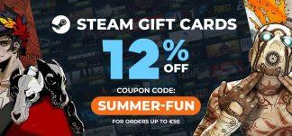 OFERTÓN: 12% de descuento en tartejas de saldo para Steam en GAMIVO