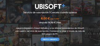 Ubisoft+ por 6€ el primer mes