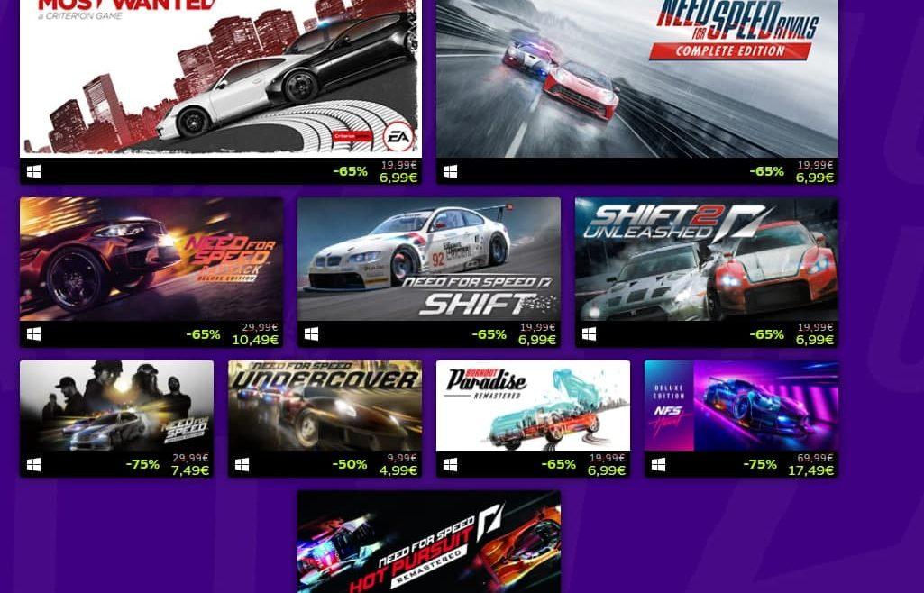 EA pone en oferta todos los NFS hasta el 13 de junio en Steam