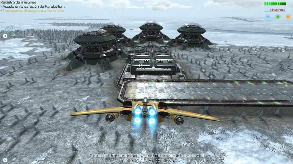Base espacial terrestre en Space Commander