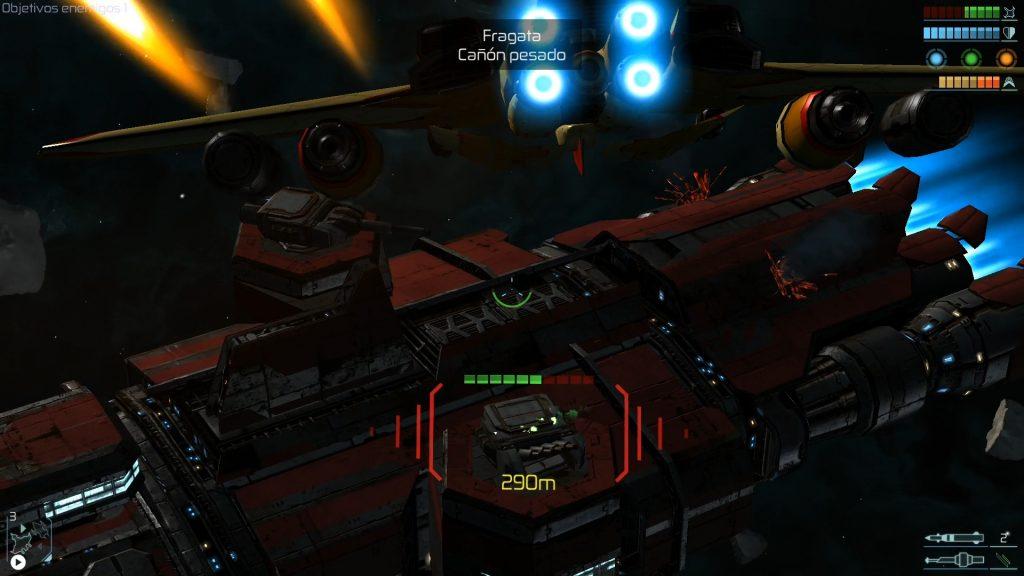 Space Commander - Atacando a una nave de transporte