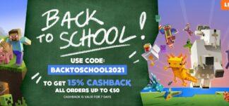 OFERTÓN: 15% de Cashback en GAMIVO hasta 50€