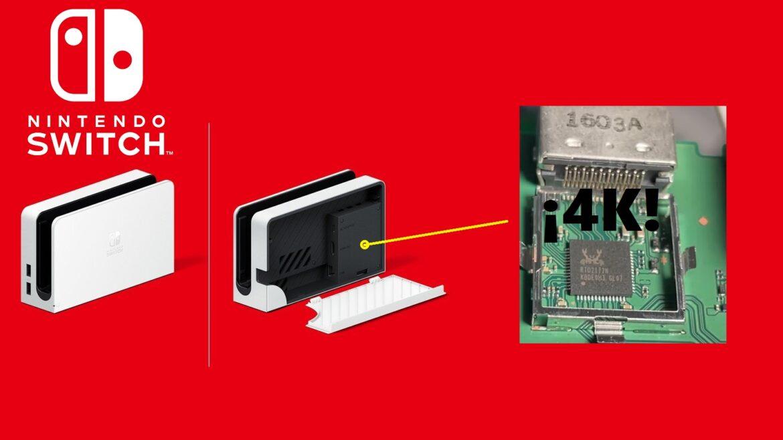 El Dock de Switch Oled está preparado para emitir a 4K