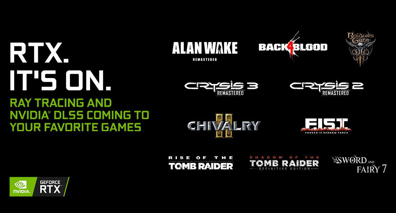 Nvidia añade DLSS a 10 títulos