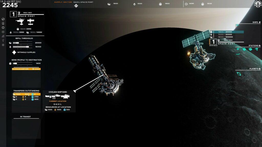 Estación espacial - Falling Frontiers